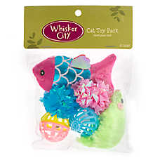 Whisker City® Fish 6-Count Cat Toy Pack