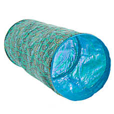Whisker City® Fish Print Pop-Up Tunnel Cat Toy