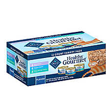 BLUE Healthy Gourmet® Flaked Cat Food - Variety Pack, 12ct