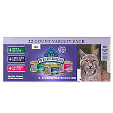 BLUE Wilderness® Cat Food - Natural, Grain Free, Variety Pack, 12ct