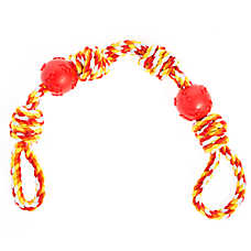 Top Paw® 4 Knot 2 Ball Dog Toy - Rope, Rubber