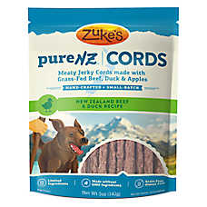 Zuke's® Pure NZ Cords Dog Treat - Grain Free, Limited Ingredient, Beef & Duck
