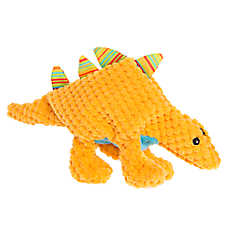 Top Paw® Flattie Dino Stegosaurus Dog Toy - Squeaker