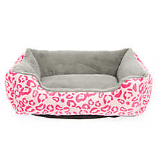 Whisker City® Leopard Print Cuddler Cat Bed