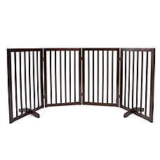 Top Paw® 4-Panel Freestanding Wood Pet Gate
