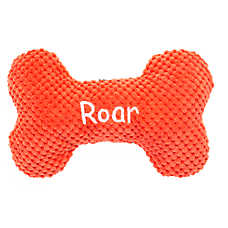 "Top Paw® Dino ""Roar"" Bone Dog Toy - Plush, Squeaker"