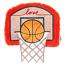 ED Ellen DeGeneres Basketball Hoop Dog Toy - Plush, Squeaker