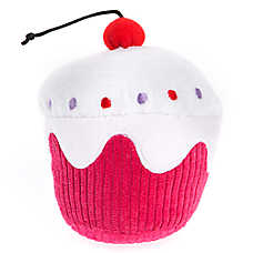 Top Paw® Cherry Top Birthday Cupcake Dog toy - Plush, Squeaker