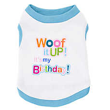 "Top Paw® ""Woof It Up! It's My Birthday"" Dog Tee"