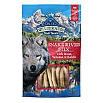 BLUE Wilderness® Snake River Stix Dog Treat - Natural, Grain Free, Trout, Venison & Rabbit