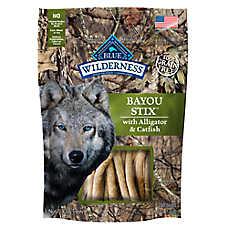 BLUE Wilderness® Bayou Stix Dog Treat - Natural, Grain Free, Alligator & Catfish