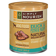 Simply Nourish™ Limited Ingredient Diet Dog Food - Natural, Grain Free, Duck & Potato