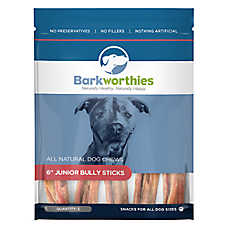 "Barkworthies 6"" Junior Bully Sticks Dog Chew - Natural"