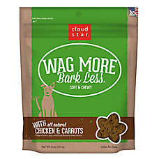 Cloud Star® Wag More Bark Less® Dog Treat - Natural, Chicken & Carrots