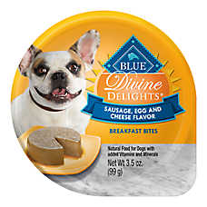 BLUE Divine Delights™ Breakfast Bites Small Breed Dog Food - Natural, Sausage, Egg & Cheese