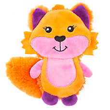 Top Paw® Back to School Flattie Fox Dog Toy