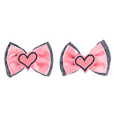 Top Paw® Back To School Hearts Hair Bows