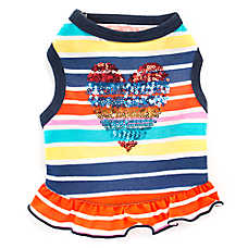 Top Paw® Striped Heart Dog Dress
