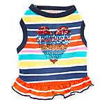 Top Paw® Striped Heart Dog Dress