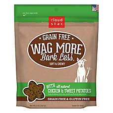 Cloud Star® Wag More Bark Less® Dog Treat - Natural, Grain & Gluten Free, Chicken & Sweet Potatoes