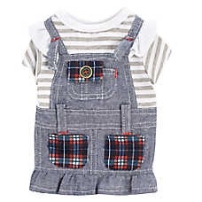Top Paw® Back To School Denim Dog Dress