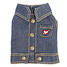 Top Paw® Back To School Denim Dog Vest