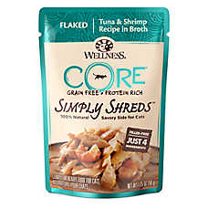 Wellness® CORE® Simply Shreds Cat Food - Natural, Grain Free, Tuna & Shrimp