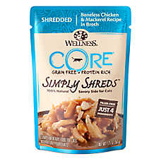 Wellness® CORE® Simply Shreds Cat Food - Natural, Grain Free, Chicken & Mackerel