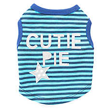 "Top Paw® ""Cutie Pie"" Striped Dog Tee"