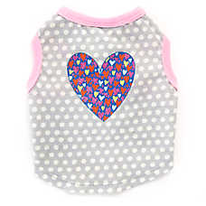 Top Paw® Polka Dot Heart Dog Tee