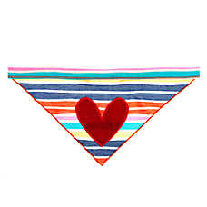 Top Paw® Striped Heart Dog Bandana