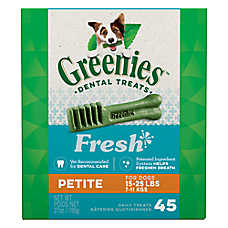 Greenies® Petite Dental Dog Treat - Fresh