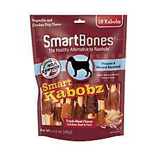 SmartBones® Smart Kabobz Dog Treat - Triple Meat Flavor