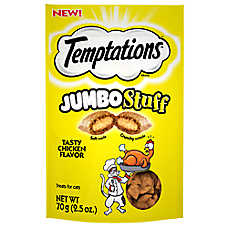WHISKAS® TEMPTATIONS® Jumbo Stuff Cat Treat - Tasty Chicken
