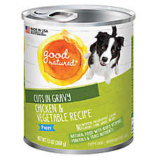 Good Natured™ Puppy Food - Natural, Chicken & Vegetable, Cuts in Gravy