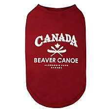 Beaver Canoe Canada Dog Tee