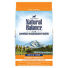 Natural Balance Limited Ingredient Diets High Protein Dog Food - Natural, Grain Free, Turkey
