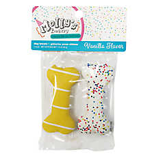 Molly's Barkery Dipped Birthday Bones Dog Treat - Vanilla