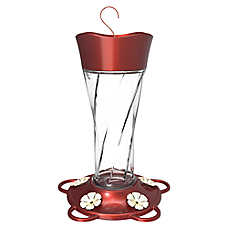 More Birds™ Twist Glass Hummingbird Feeder