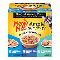 Meow Mix® Simple Servings Cat Food - Seafood Variety Pack, 24ct
