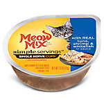 Meow Mix® Simple Servings Cat Food - Tuna, Shrimp & Whitefish, 2ct