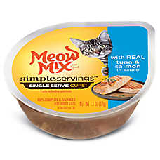 Meow Mix® Simple Servings Cat Food - Tuna & Salmon, 2ct