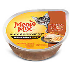 Meow Mix® Simple Servings Cat Food - Chicken & Turkey, 2ct