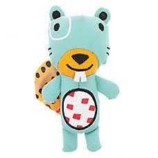 Top Paw® 2 Wild Beaver Dog Toy - Plush, Squeaker