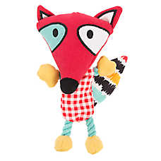Top Paw® 2 Wild Fox Dog Toy - Plush, Rope