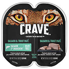 Crave Adult Cat Food - Natural, Grain Free, Salmon & Trout Pate