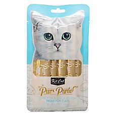 Kit Cat Purr Puree Cat Treat - Natural, Grain Free, Chicken & Smoked Fish