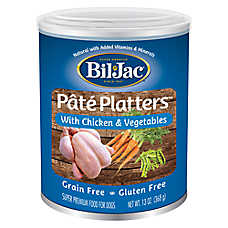 Bil-Jac® Pate Platters Dog Food - Grain Free, Gluten Free, Chicken & Vegetables