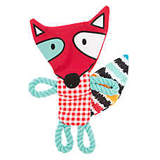 Top Paw® 2 Wild Flattie Fox Dog Toy - Rope