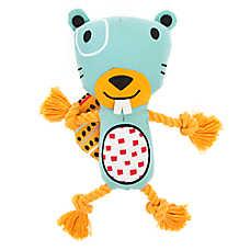 Top Paw® 2 Wild Beaver Dog Toy - Plush, Rope
